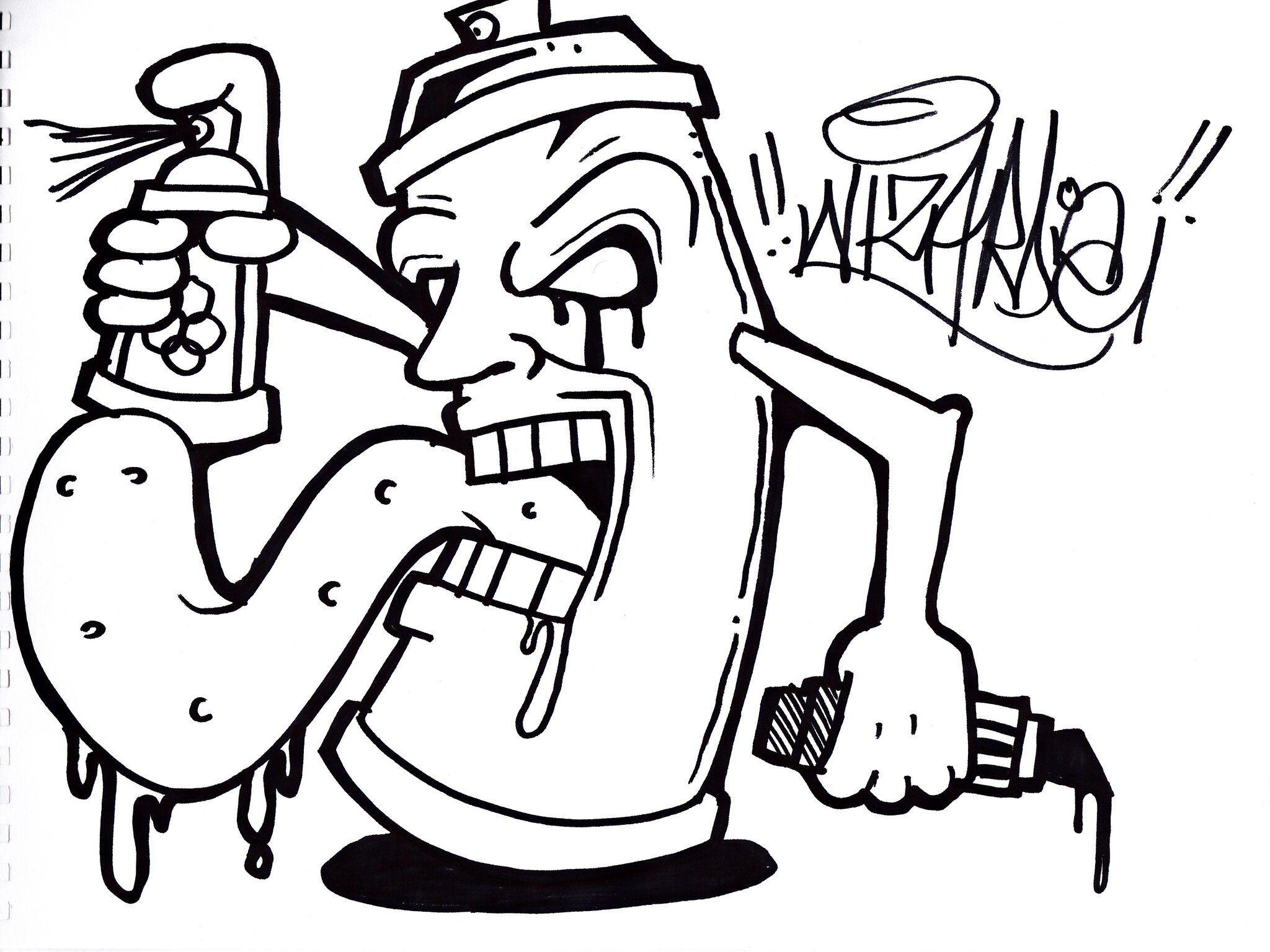 Graffiti Spraycan Graffiti Drawing Graffiti Doodles Easy Graffiti