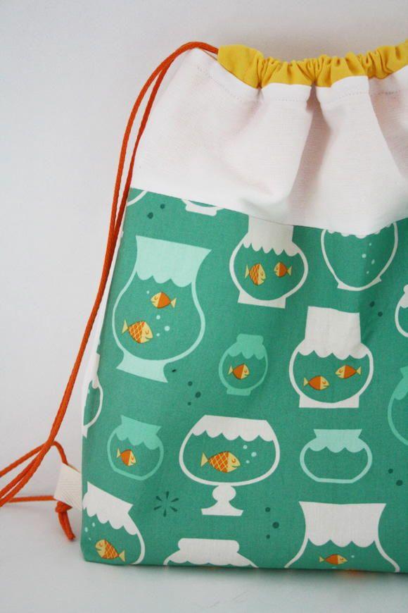 Fishy Diy Drawstring Backpack Drawstring Backpack Backpacks And