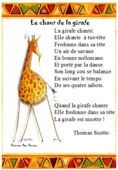 Le chant de la girafe comptines pinterest le zoo - Animaux afrique maternelle ...