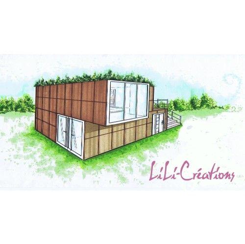 Maison container 21 jerem pinterest maison cabane for Maison container 95