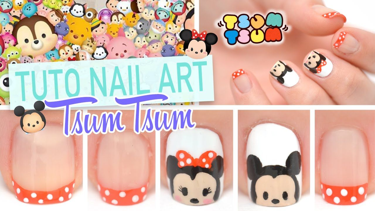 Nail art Disney ♡ Tsum tsum Mickey et Minnie ♡ | Nail Designs ...