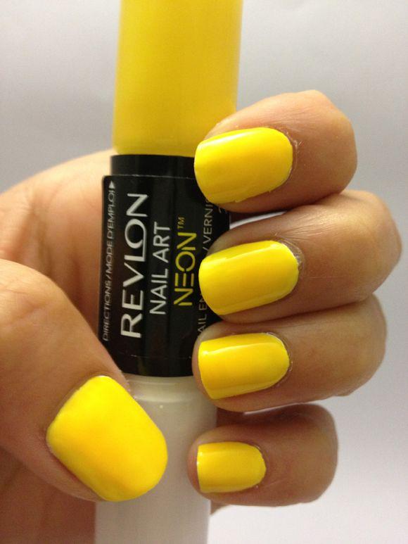 Revlon Nail Art Neon Yellow Ideas | Nails IX | Pinterest | Neon ...