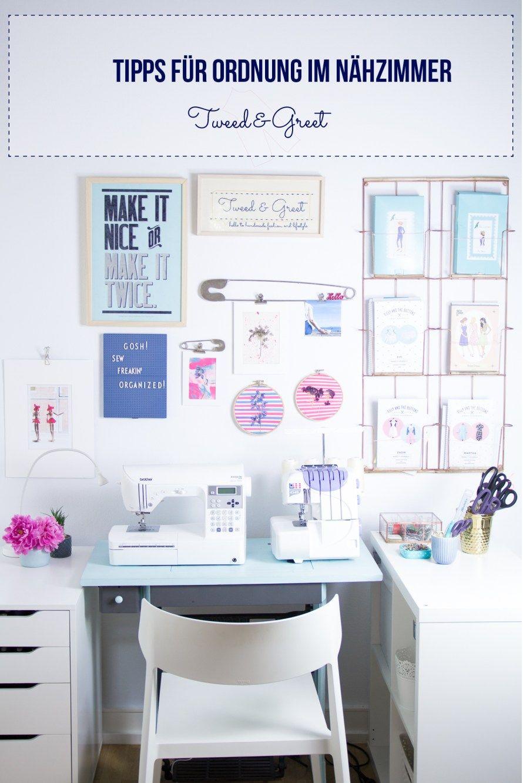 ordnung im n hzimmer aufbewahrung von schnittmustern und garn nadel und faden pinterest. Black Bedroom Furniture Sets. Home Design Ideas