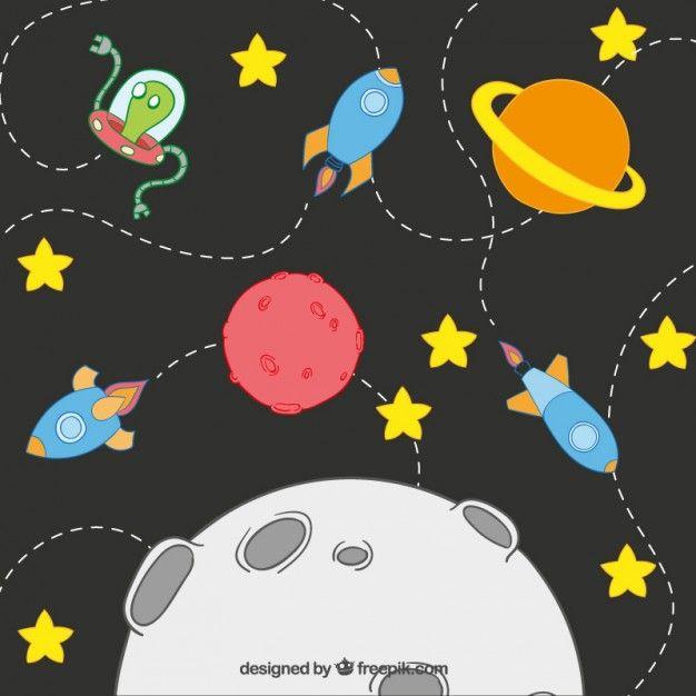 Sistema Solar Dos Desenhos Animados Baixe Milhares De Vetores Gratuitos No Freepik O Buscador Com Mais De Um Mil Foguete Desenho Jacare Desenho Sistema Solar