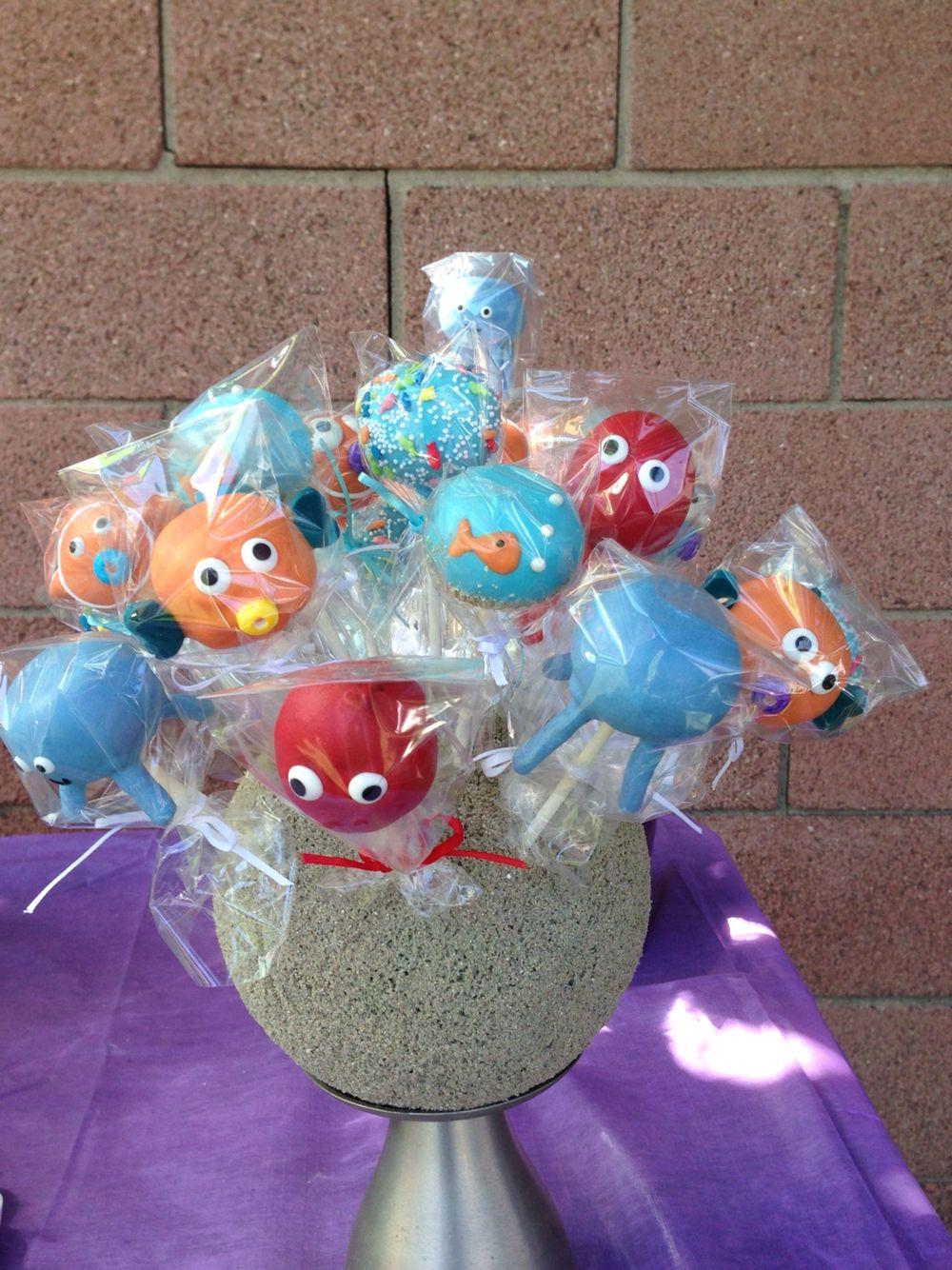 Aquatic cakepops with images cake pops cake desserts