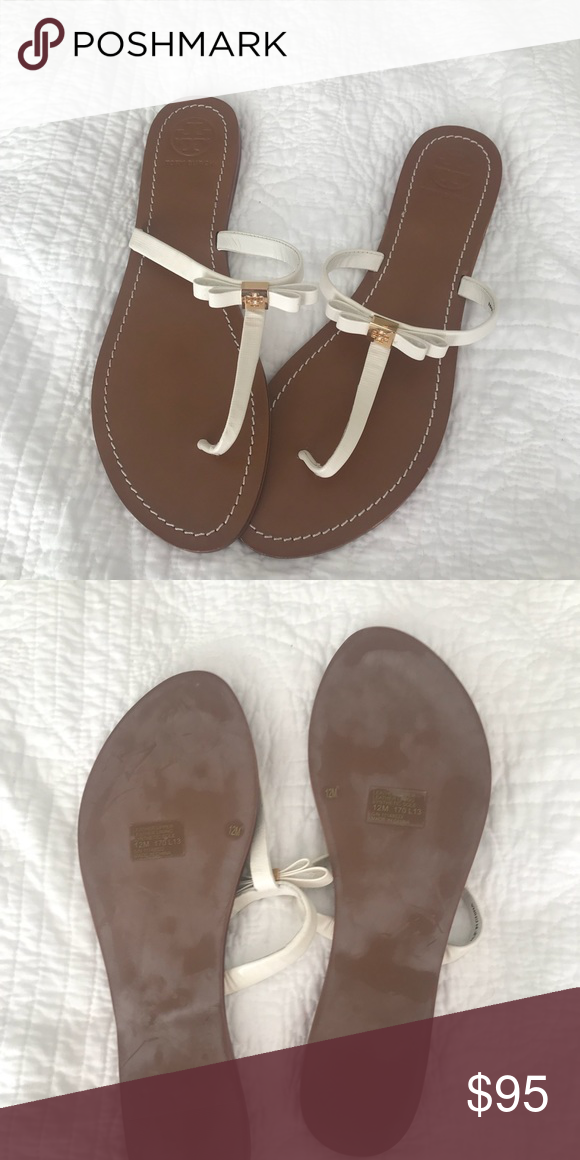 6a556e6f8 Tory Burch flip flops NWOT never worn before Tory Burch size 12 flip flops.  They have a little bow and Tory Burch logo These are so adorable and go  with a ...