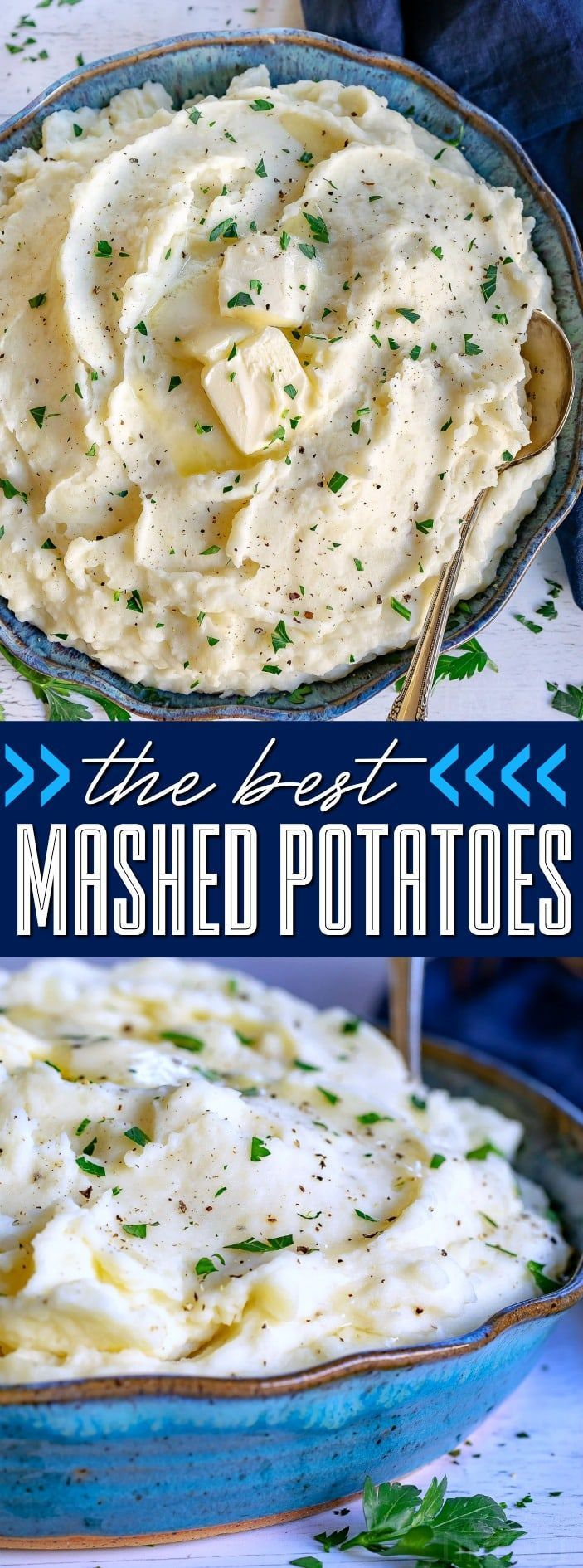 The BEST Mashed Potatoes! Easy, fluffy, creamy, delicious!
