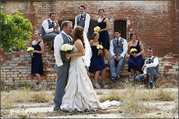 Navy blue, yellow & grey wedding love these colors | The REAL ...