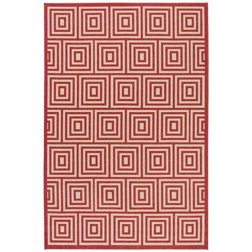 Safavieh Linden Red/Cream 8 ft. x 10 ft. Area Rug #setinstains