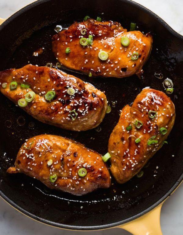 Куриные грудки под пикантным соусом в азиатском стиле ...