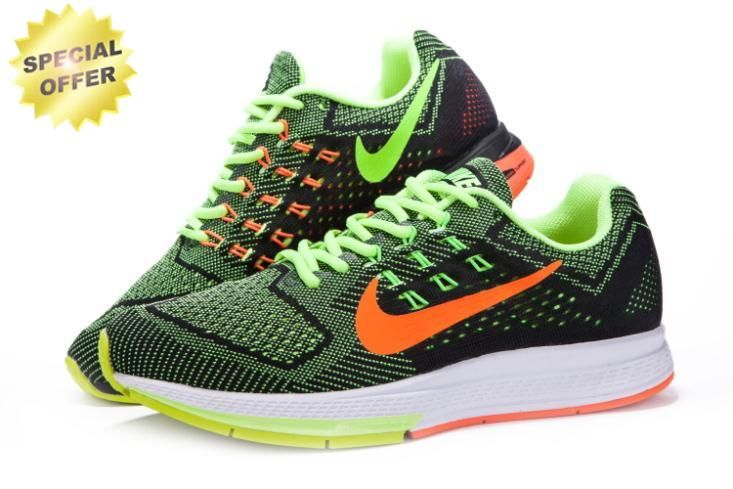 new style 25b83 18302 Mens Nike Zoom Structure 18 683731-700 Black Volt Orange ...