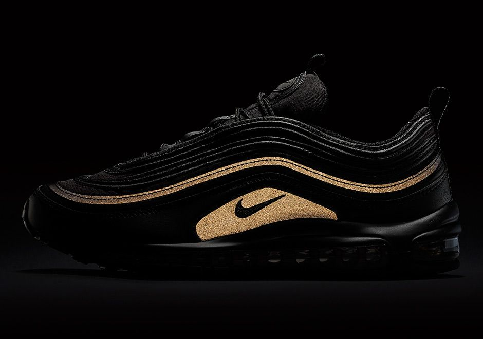 The Nike Air Max 97 will be getting a new colorway for Black Friday the new  silhouette will be featuring an all-black colorway with gold glimmering.