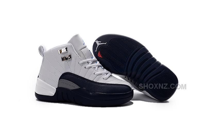 Buy 2016 Discount Nike Air Jordan 12 XII Kids Basketball Shoes White Black  Child Sneakers,Nike Air Jordan 12 Kids in our shop! All Nike Air Jordan 12  Kids ...