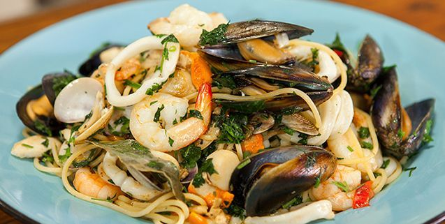 Spaghetti marinara asian food channel fish and seafood explore chef recipes seafood recipes and more spaghetti marinara asian food channel forumfinder Choice Image