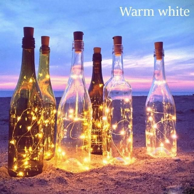 10 LED Solar Powered Wine Bottle images