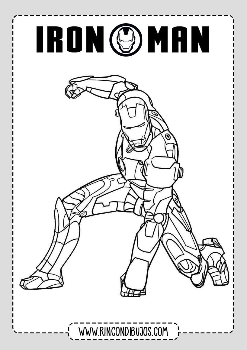 Iron Man Volando Dibujo Colorear Rincon Dibujos Ironman Dibujo Dibujos Man