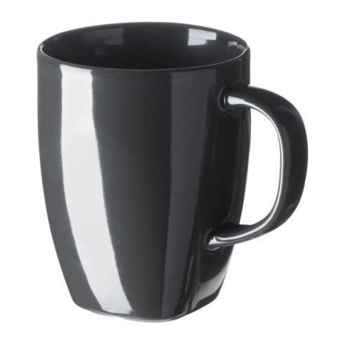 Grey Coffee Mugs From Ikea For The Bar