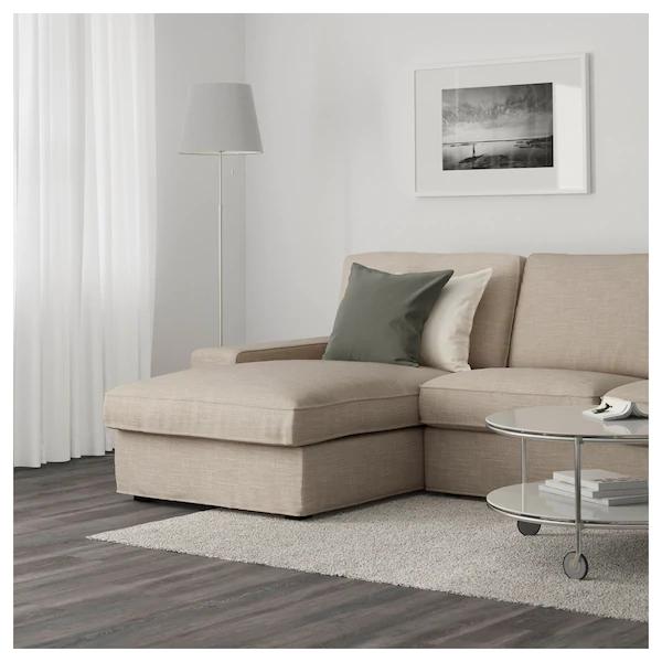 kivik sofa with chaisehillared beige  ikea  living
