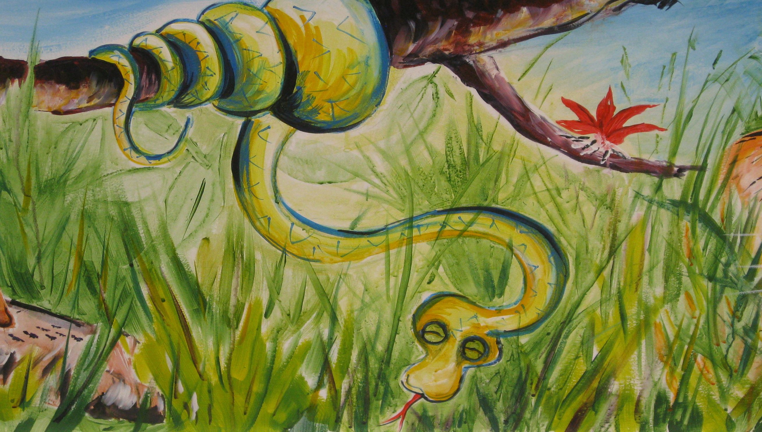 detail from jungle mural | My murals for school | Pinterest