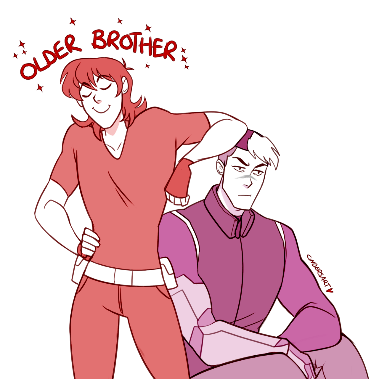 keith: shiro…. you're like a brother to me….. a younger, 6 year old brother