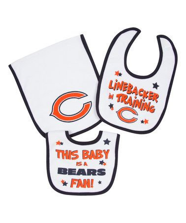 Another great find on #zulily! Chicago Bears Bibs & Burp Cloth Set - Infant #zulilyfinds