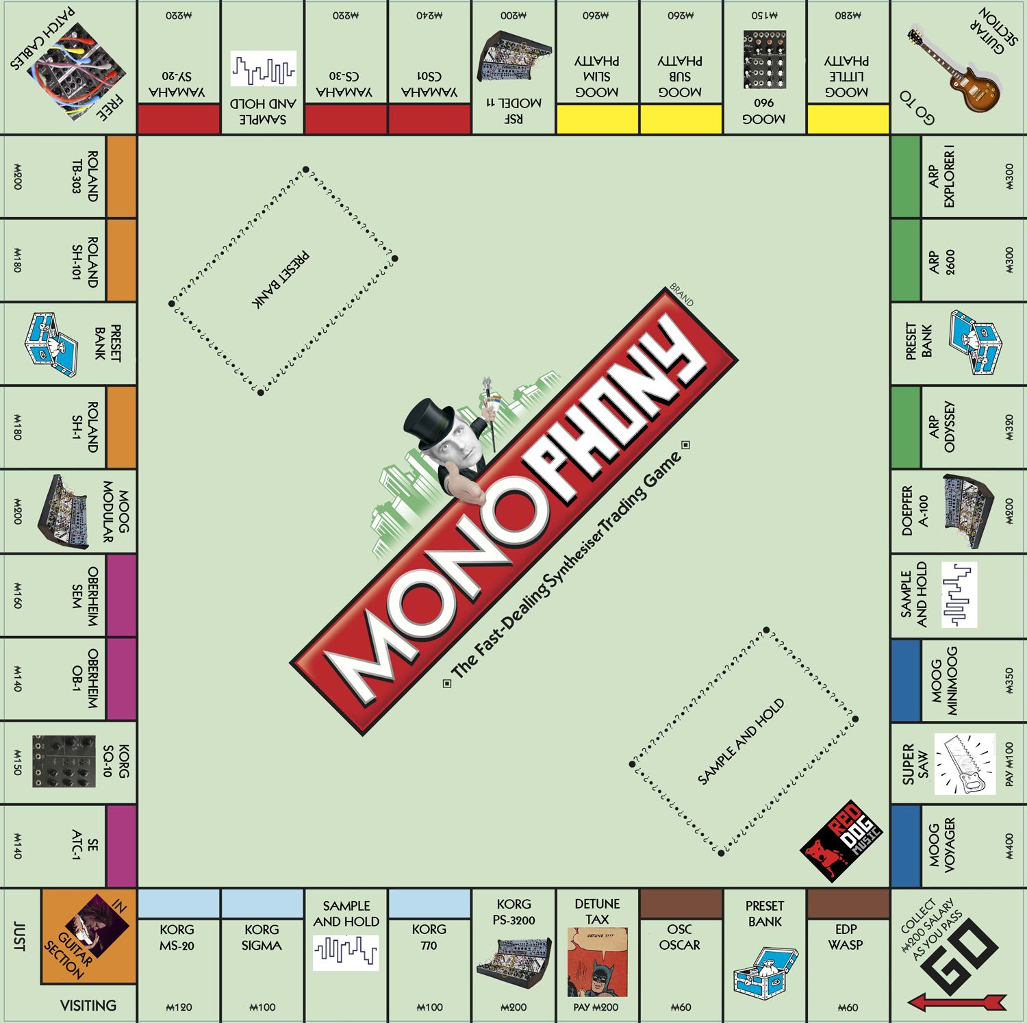 Monopoly with vintage synths: it\'s Monophony!