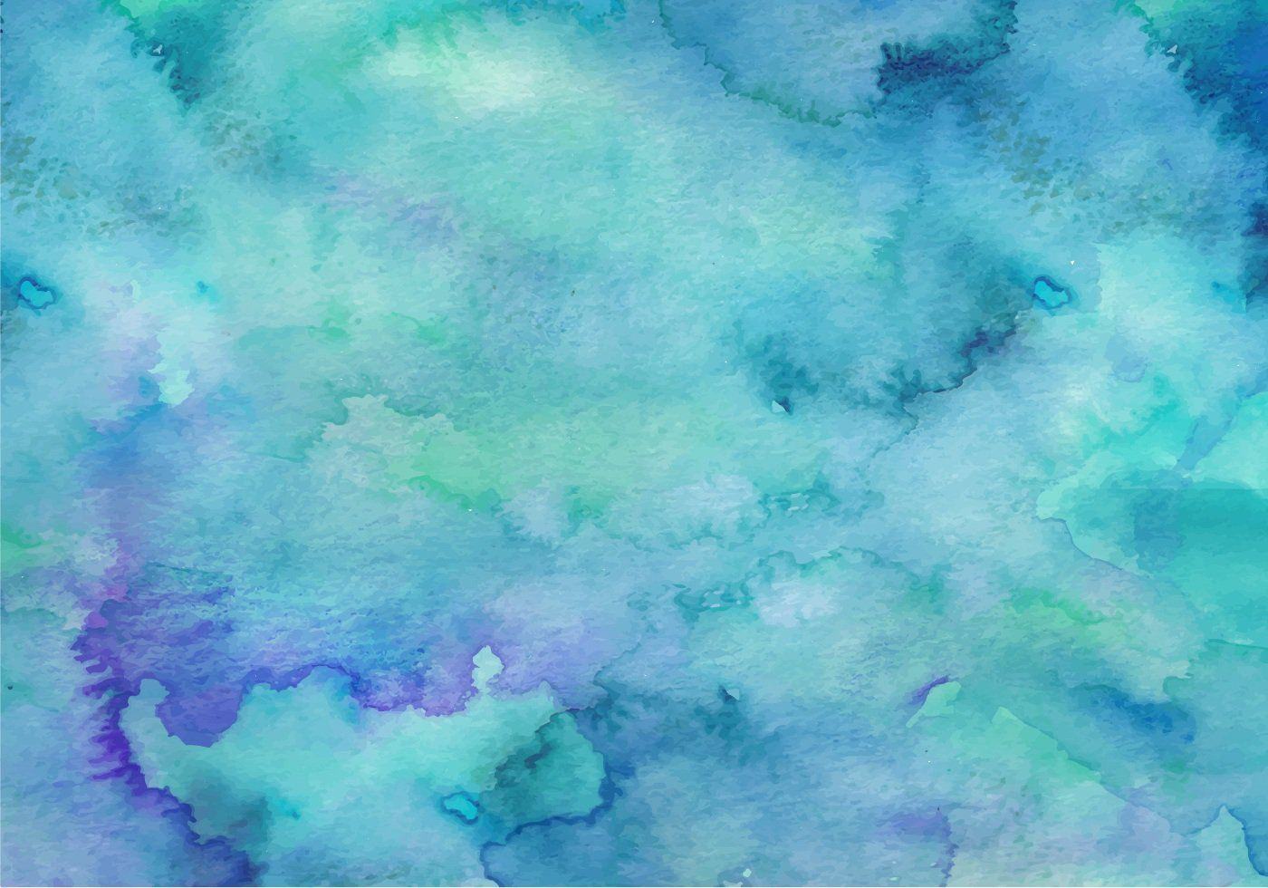Teal Free Vector Watercolor Background Watercolor