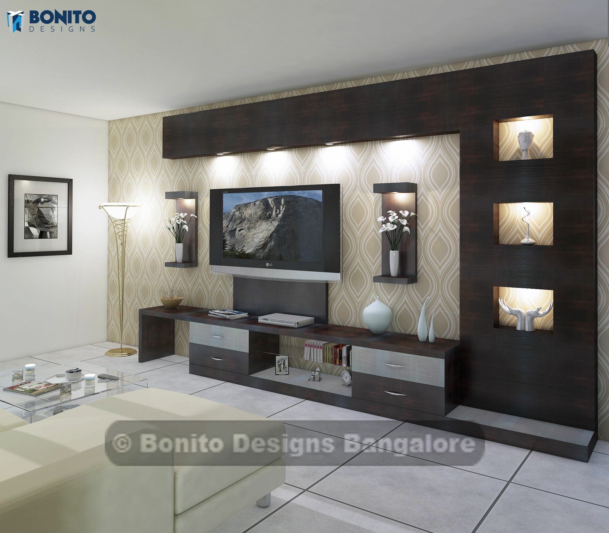 centro de entretenimiento centros bajos de. Black Bedroom Furniture Sets. Home Design Ideas