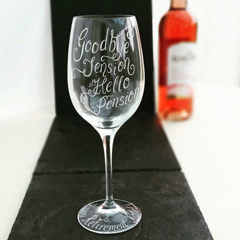 Leaving Gift Birthday Free Engraving Personalised Crystal Wine Glass Retirement