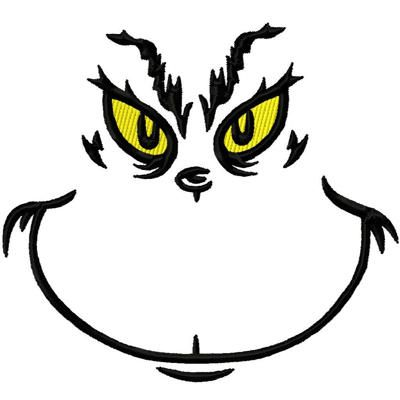 Grinch Face - template for cookie face to draw with icing grinch