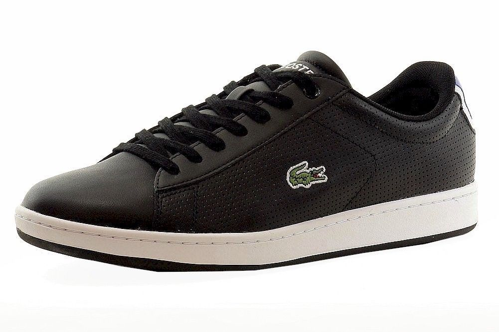 Lacoste Men's Carnaby Evo Fashion Black/Blue Sneakers Shoes