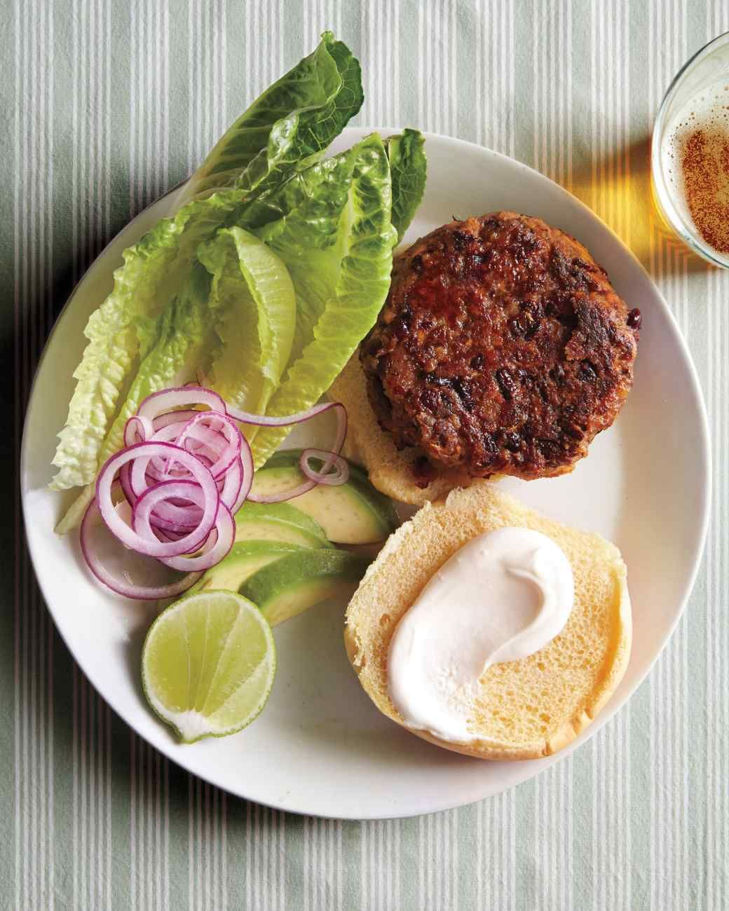 Red Bean Burgers With Avocado And Lime Recipe Recipe Bean Burger Lime Recipes Food