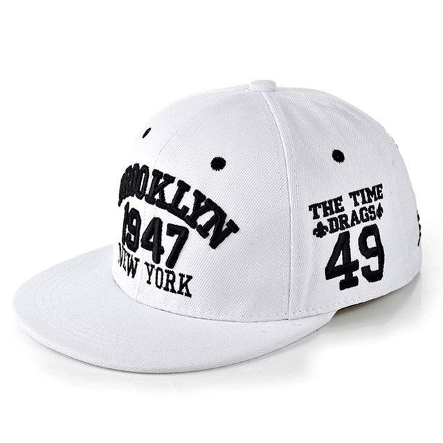 95a4666ede6 1947 Brooklyn Style Baseball Cap New York Hip Hop Hats Snapbacks ...