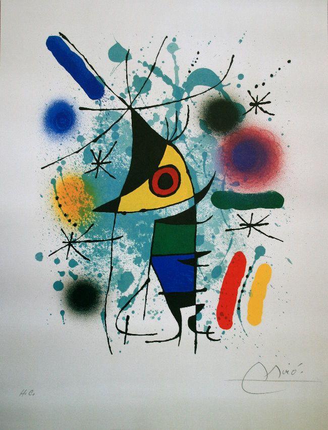 La obra de arte - Joan Miró cuadros entregados o impresos sobre lienzo barnizado, o impresiones sobre papel de calidad. Elección del formato de reproducción personalizado. Surrealismo Abstracto, Arte Español, Arte Deco, Arte Impresionista, Pintura Y Escultura, Obras De Arte, Esculturas, Pinturas De Joan Miro, Miro Pintor