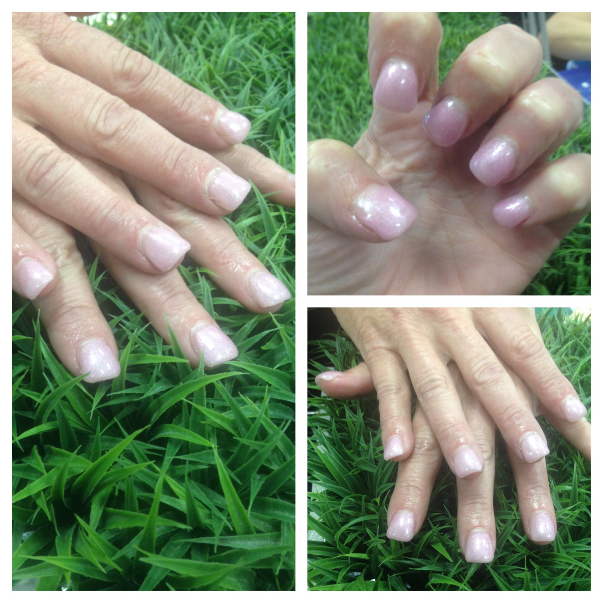 Acrylic set with gel polish. #nails