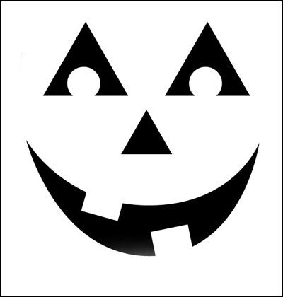 A classic jack-o-lantern pumpkin carving template Teaching the - pumpkin carving template