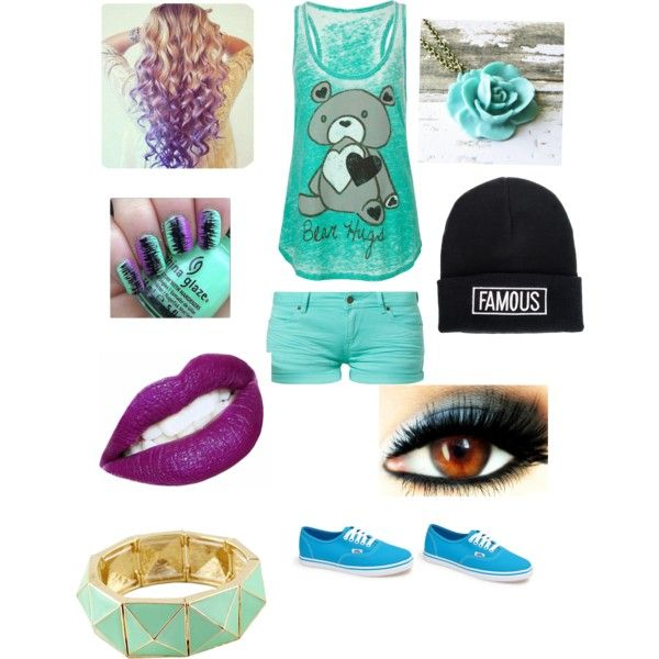 Summer day outfit by carmentirado on Polyvore featuring polyvore, fashion, style, Full Tilt, TWINTIP, Vans and Quiz