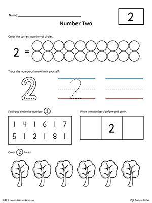 Number 2 Practice Worksheet Preschool Math Numbers Numbers Preschool Numbers Kindergarten