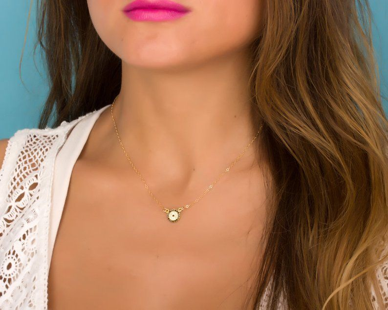 Crystal necklace  Evil Eye necklace Gold  Kabbalah Jewelry  Gold Layered necklaceNazar NecklaceGood Luck charm Jewelry Handmade Geras