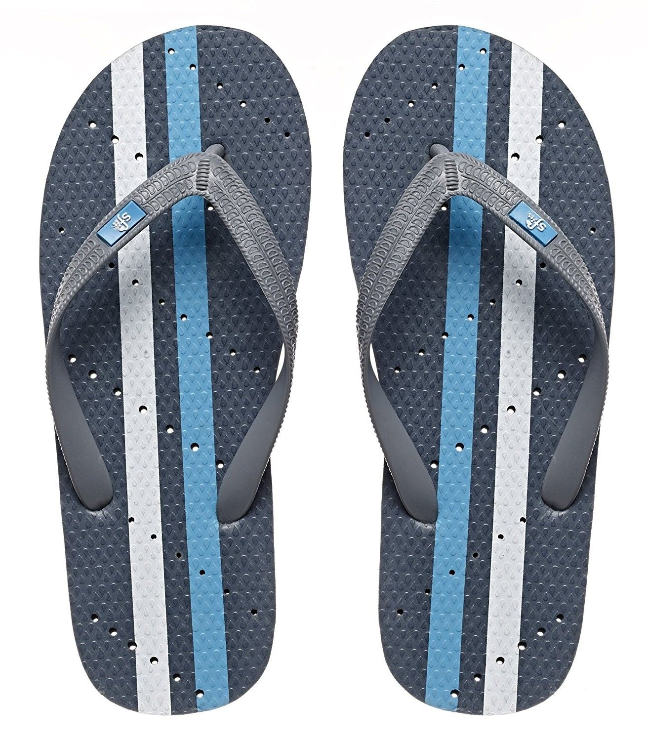 94d11d2c1a02 Antimicrobial Shower Water Sandals - Grey Turquoise - CB1807KODEY ...