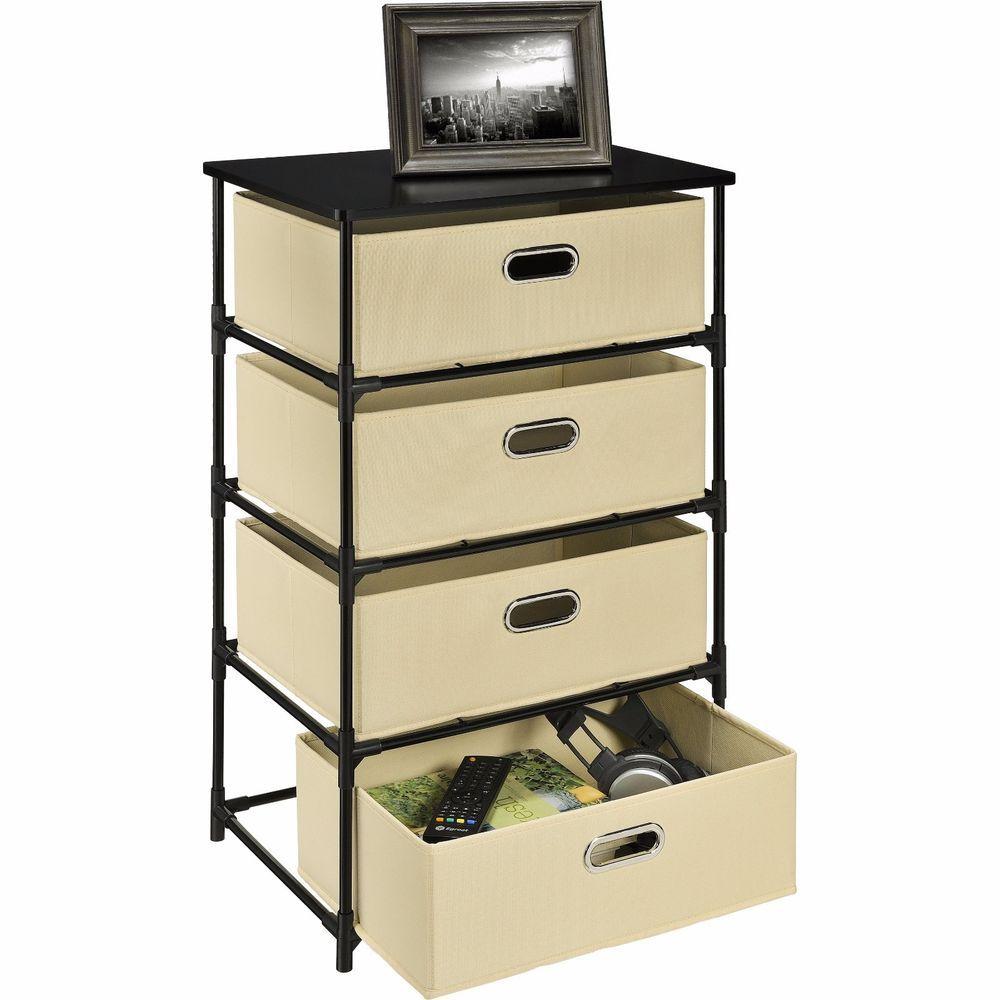Altra 4-Bin Storage End Table Home Living Room Bedroom Cabinet ...