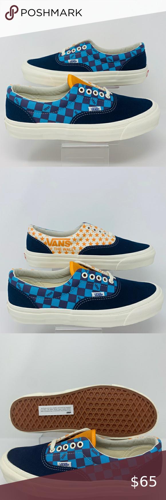 Vans Og Era Lx Vault Checkerboard Stars Pack Vans Vans Classic Slip On Sneaker Unisex Shoes