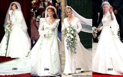 Wedding Dresses of English Royalty