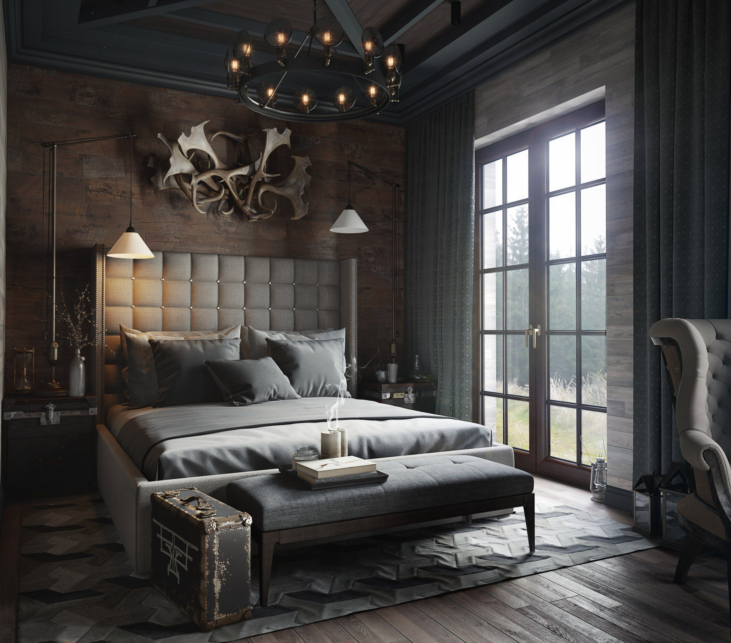 Top 30 Masculine Bedroom Part 2: Pin By Carolyn Engdahl On For The Home