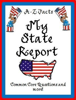 State Research Report Packet  Worksheets Students And Social Studies