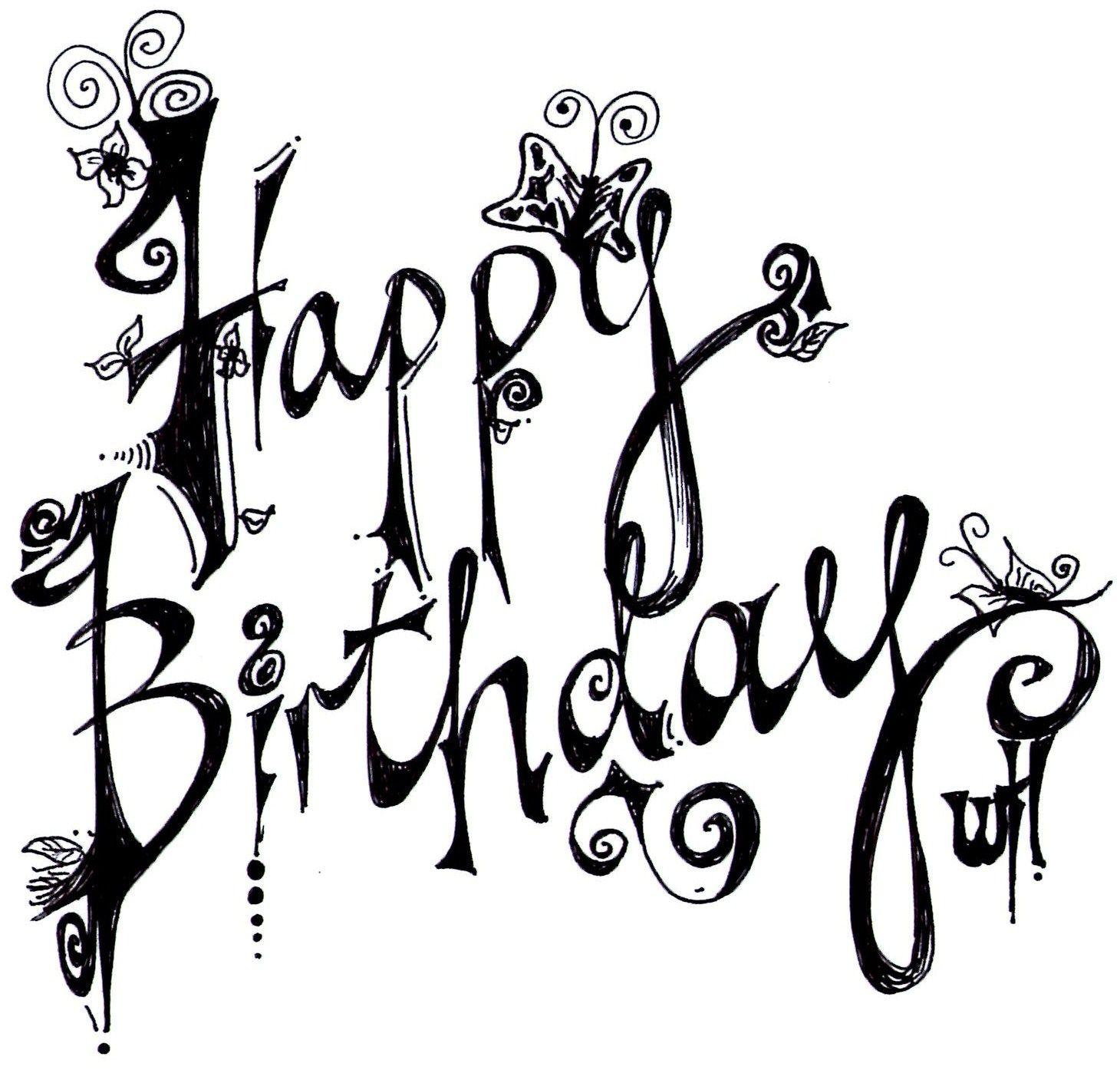 Happy birthday word original artwork pinterest happy