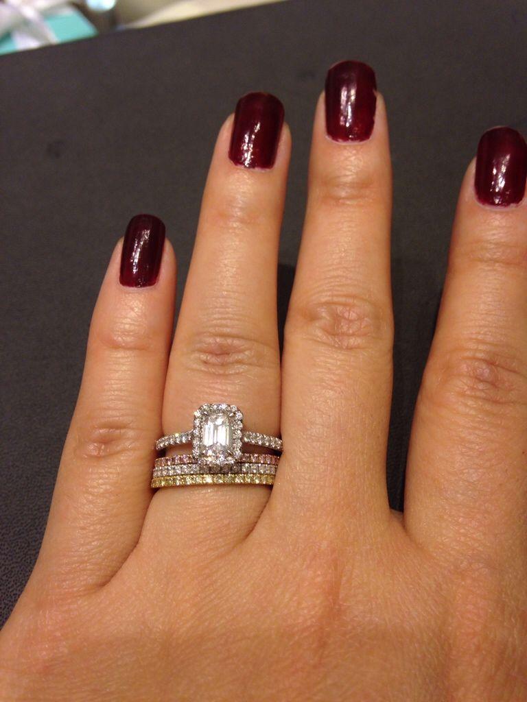Tiffany Soleste Emerald Cut Les Mariages Wedding