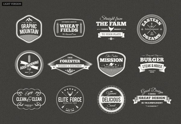 Modern Rerto Badges / Vintage Label by ranfirefly , via Behance