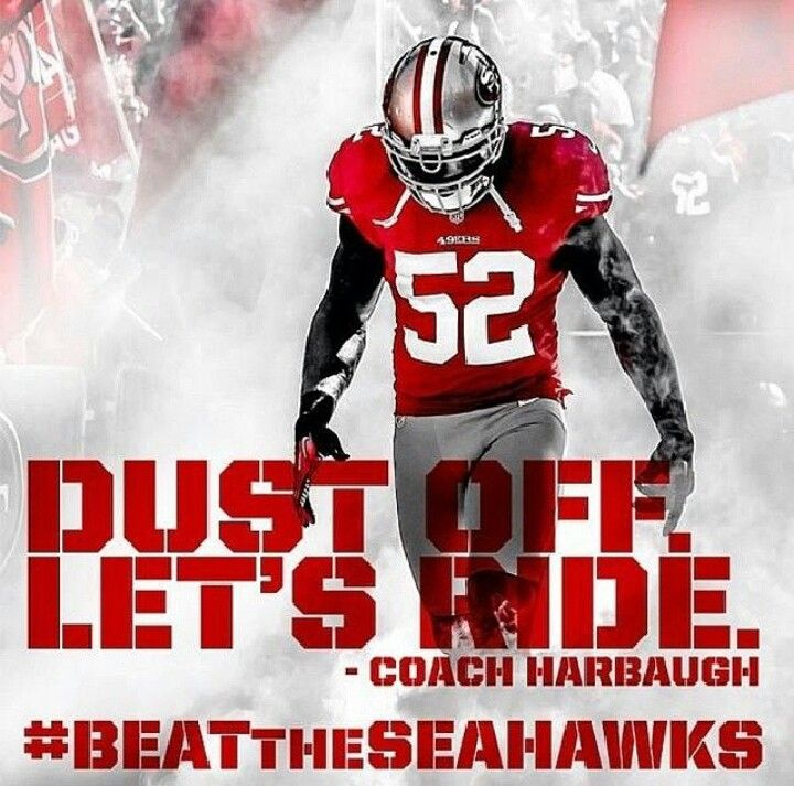 Dust off. Let's ride!! -coach harbaugh