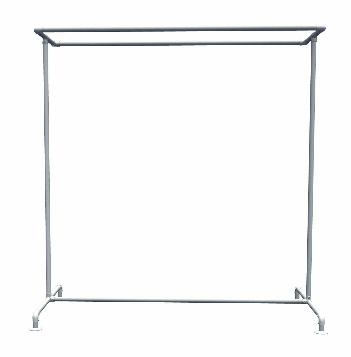 Pipe clothing rack free standing double rail kee klamp